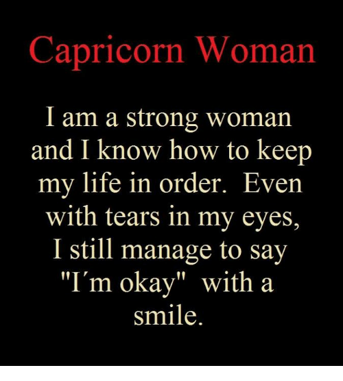 Capricorn Woman I Am a Strong Woman and I Know How to Keep