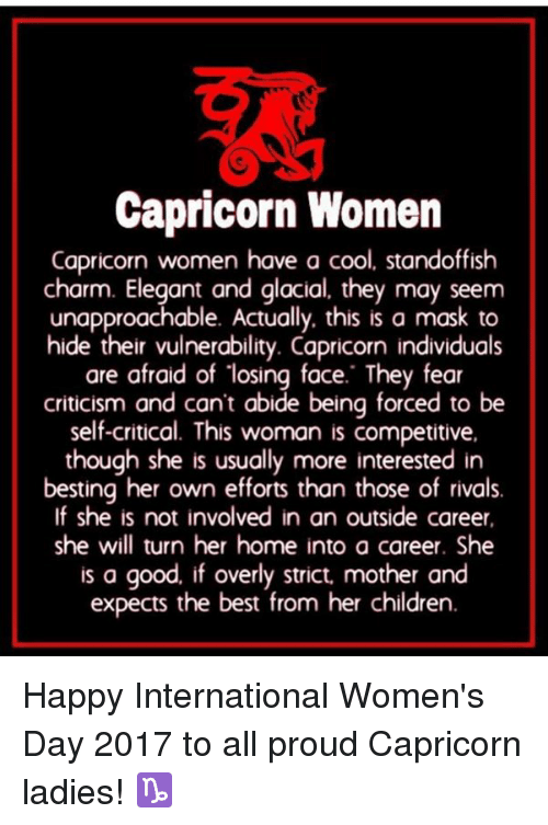 Capricorn Women Capricorn Women Have a Cool Standoffish