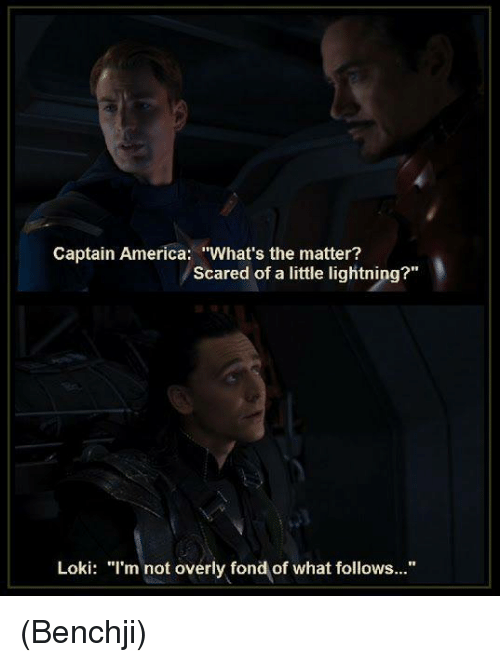 Captain America What's the Matter? Scared of a Little