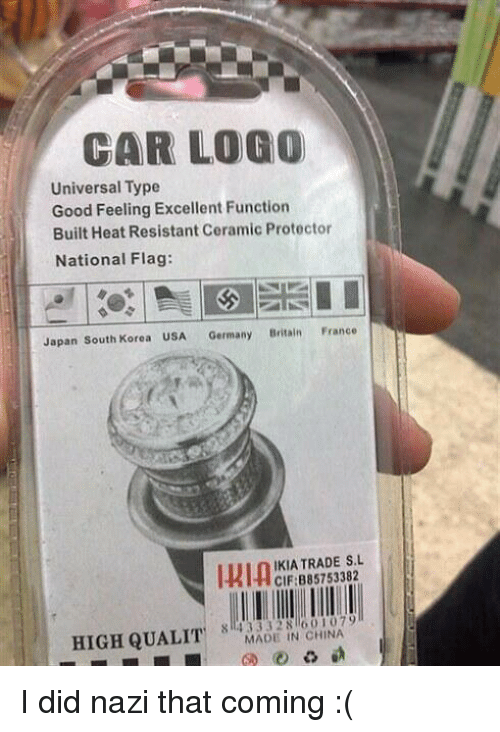 Car Logo Universal Type Good Feeling Excellent Function Built Heat Resistant Ceramic -3190