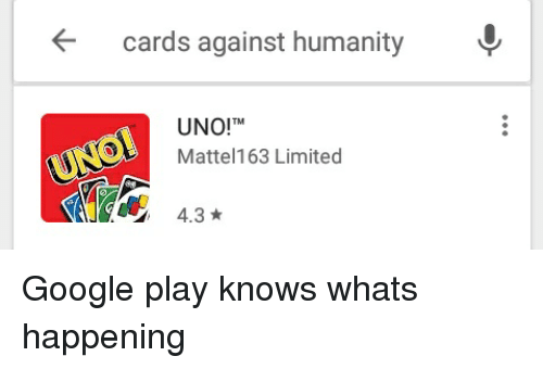 Cards Against Humanity UNO!TM Mattel163 Limited 43 | Cards