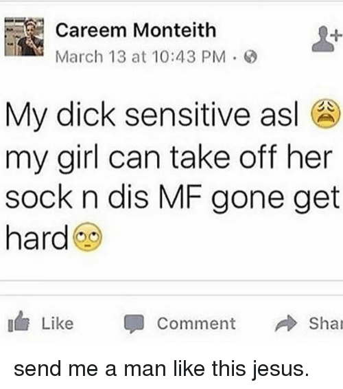 his dick gets hard