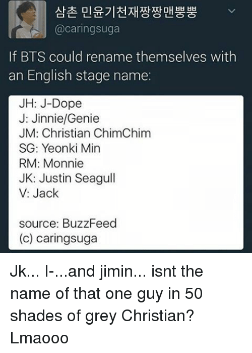 if BTS Could Rename Themselves With an English Stage Name JH J-Dope