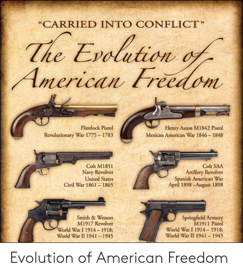 CARRIED INTO CONFLICT the Evolution Flintlock Pistol