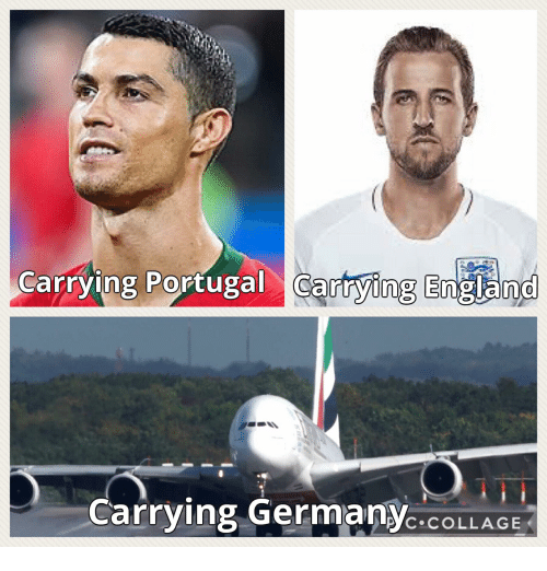 England, Collage, and Portugal: Carrying Portugal Cartying England  0  Carrying GermanyC.COLLAGE