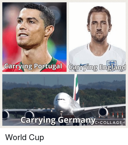 England, Funny, and World Cup: Carrying Portugal cartying England  Carrying GermanYC.COLLAGE  P'C COLLAGE