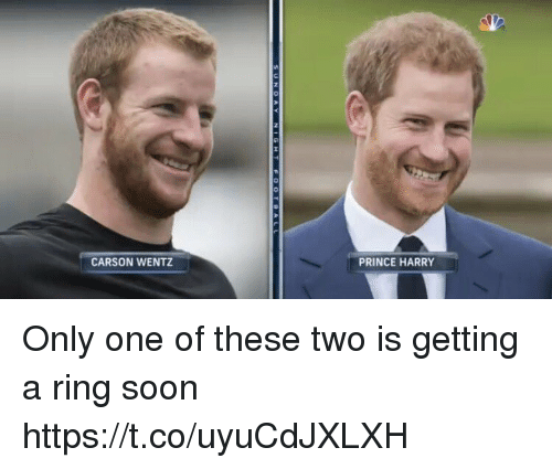 Carson Wentz Prince Harry Only One Of These Two Is Getting