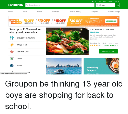 Cart Sell Help Sign in Sign Up GROUPONC Search Groupon