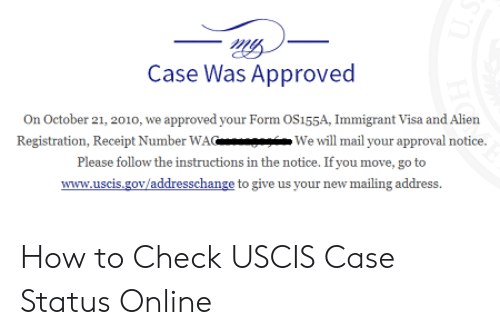 Case Was Approved on October 21 2010 We Approved Your Form