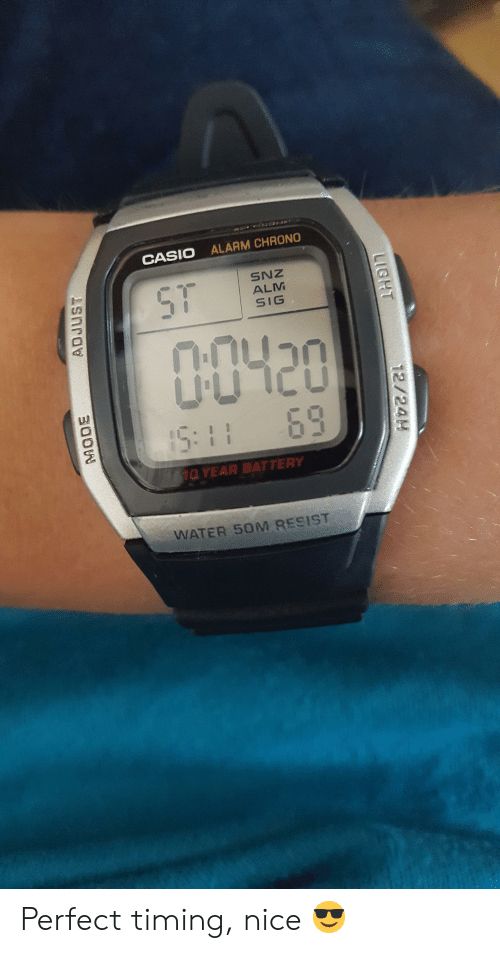 cf7d2f78e75ae Alarm, Water, and Perfect Timing: CASIO ALARM CHRONO ST SNZ ALM SIG 00420