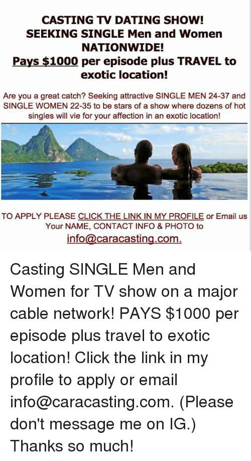 apply for a dating show full hookup camping southern california