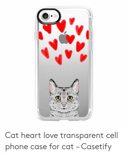 buy popular 6aecf 0d2f7 Cat Heart Love Transparent Cell Phone Case for Cat – Casetify | Love ...