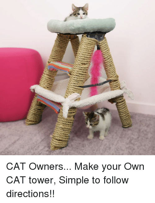Simple cat tower cat trees u towers with simple cat tower for Build your own cat scratch tower