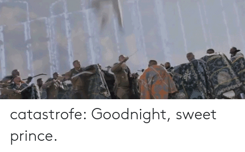 Prince, Tumblr, and Blog: catastrofe:  Goodnight, sweet prince.