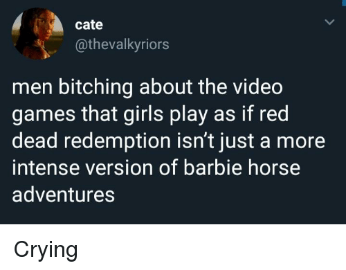 Cate Men Bitching About the Video Games That Girls Play as