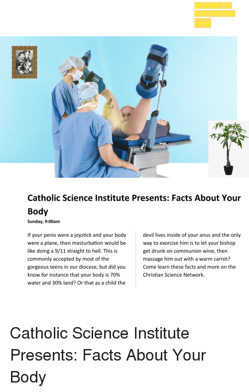 9/11, Drunk, and Facts: Catholic Science Institute Presents: Facts About