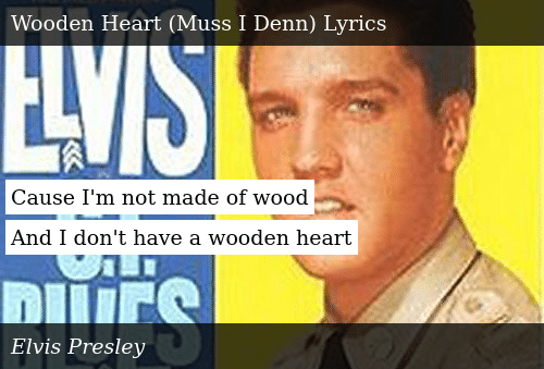 Cause Im Not Made Of Wood And I Dont Have A Wooden Heart Donald