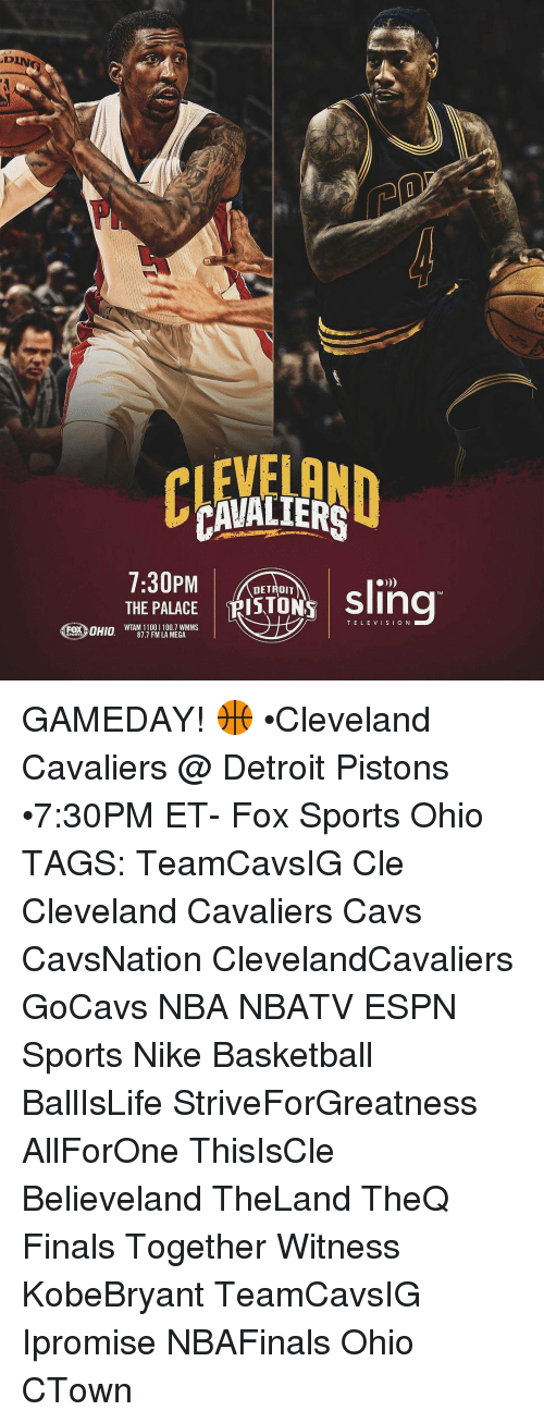 CAVALIERS THE PALACE DETROIT Sling TRISTON TELEVISION Nuno