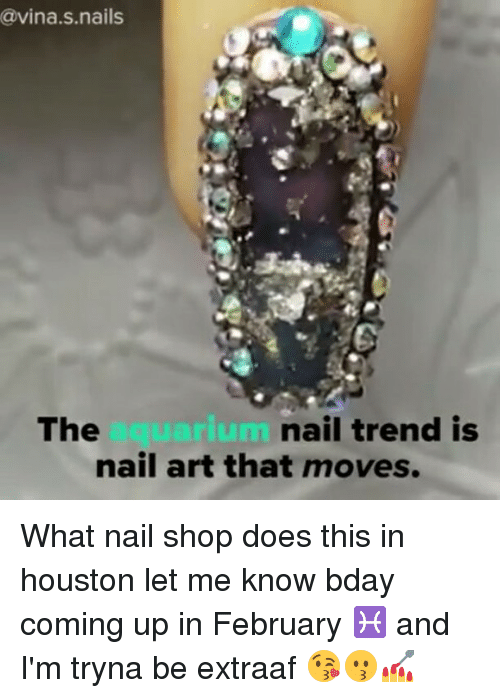 Cavina S Nails the Uarium Nail Trend Is Nail Art That Moves What ...