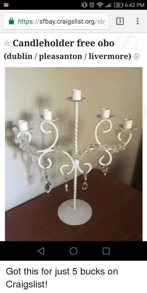 Cd Iii 56 642 Pm Httpssfbay Craigslistorgeby Candleholder Free Obo