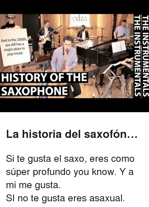 Cdza and in the 2000's Sax Still Has a Major Place in Pop