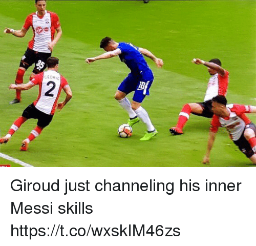Soccer, Messi, and Just: CEDRI Giroud just channeling his inner Messi skills https://t.co/wxskIM46zs