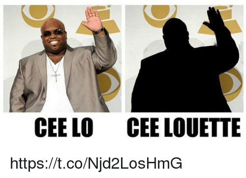 Memes, 🤖, and Cee Lo: CEE LO  CEE LOUETTE https://t.co/Njd2LosHmG