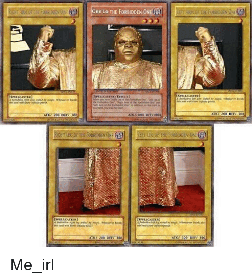 Irl, Me IRL, and One: Cee Lo THE FORBIDDEN ONE