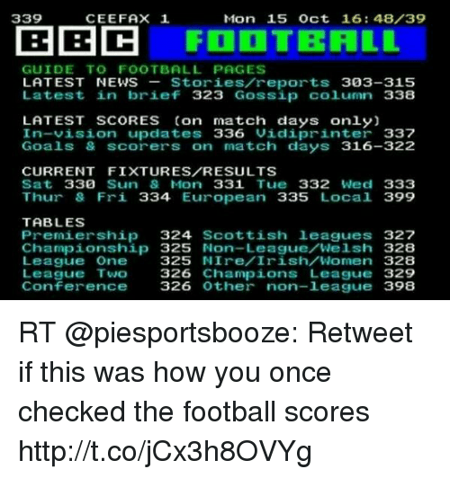 25 best memes about football scores football scores memes - Football conference south league table ...