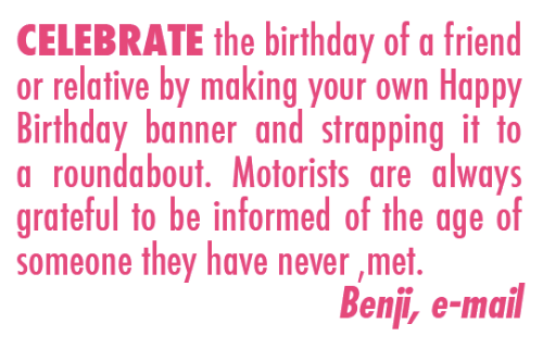 celebrate the birthday of a friend or relative by making your own