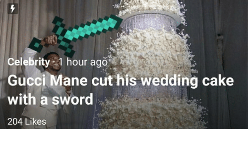 Celebrity 1 Hour Ago Gucci Mane Cut His Wedding Cake With a