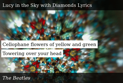 SIZZLE: Cellophane flowers of yellow and green Towering over your head