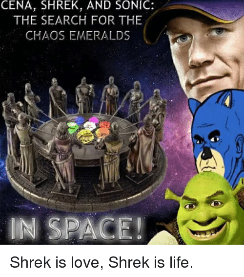 Cena Shrek And Sonic The Search For The Chaos Emeralds In Space