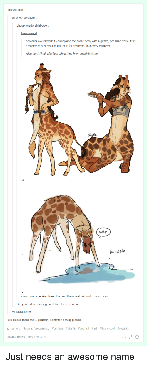 Centaurs Would Work if You Replace the Horse Body With a Giraffe ...