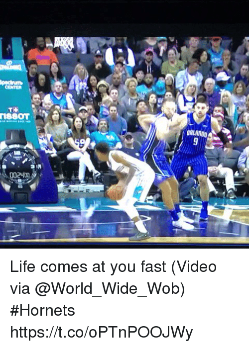Sizzle: CENTER  18801 Life comes at you fast  (Video via @World_Wide_Wob) #Hornets https://t.co/oPTnPOOJWy