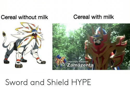 Cereal With Milk Cereal Without Milk Legendary Pokemon Zamazenta