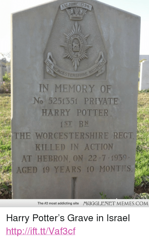 CESTERSHIRE IN MEMORY OF No 5251351 PRIVATE HARRY POTTER ST