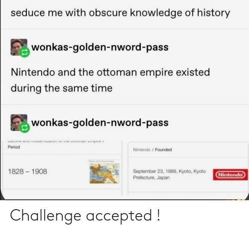 Accepted, Challenge, and Challenge Accepted: Challenge accepted !