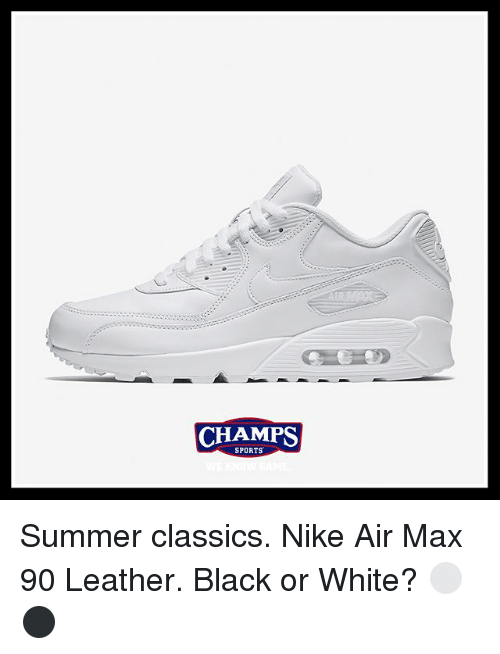 CHAMPS CHAMPS SPORTS Summer Classics Nike Air Max 90 Leather Black ... d16e4863f