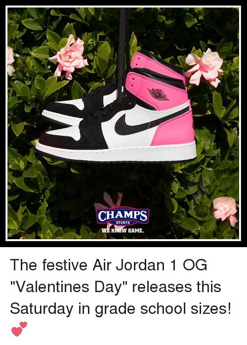 Champs Sports Know Game The Festive Air Jordan 1 Og Valentines Day
