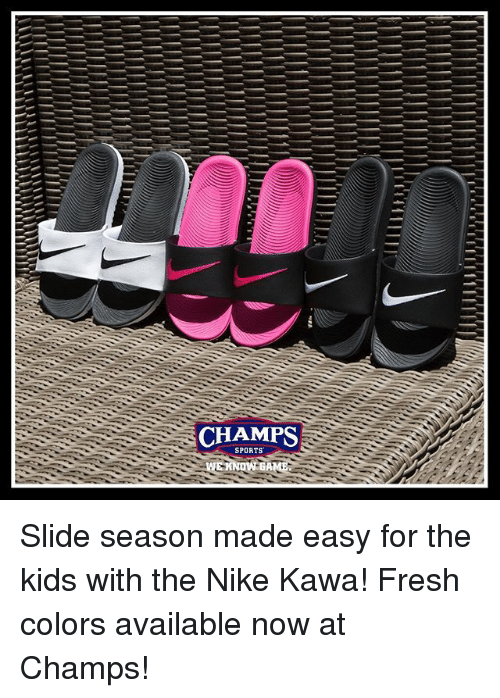 new concept 567d5 48101 CHAMPS SPORTS Slide Season Made Easy for the Kids With the ...