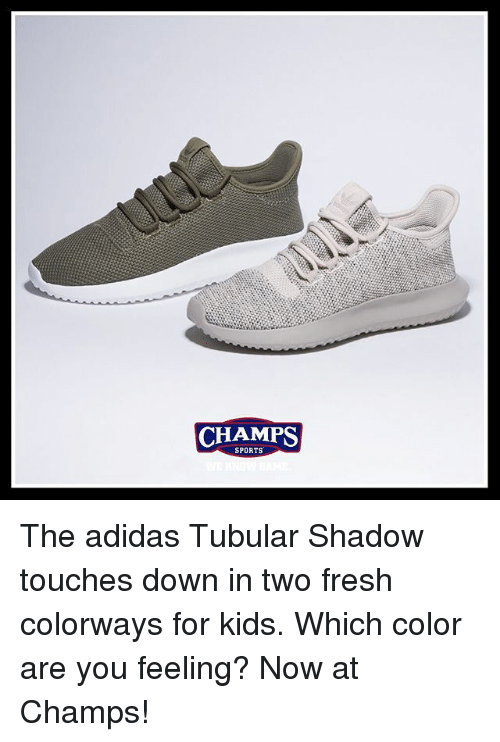 ... inexpensive adidas fresh and memes champs sports the adidas tubular  shadow touches down in e79bb e91f4 21f1c7ea5d