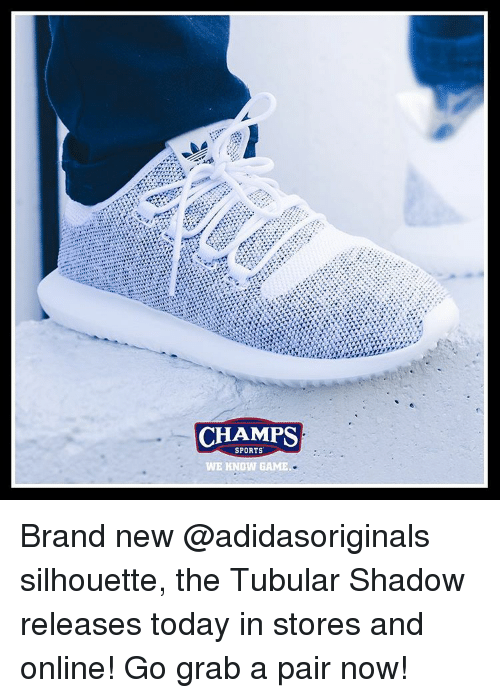 half off 950a4 d067d CHAMPS SPORTS WE KNOW GAME Brand New Silhouette the Tubular ...