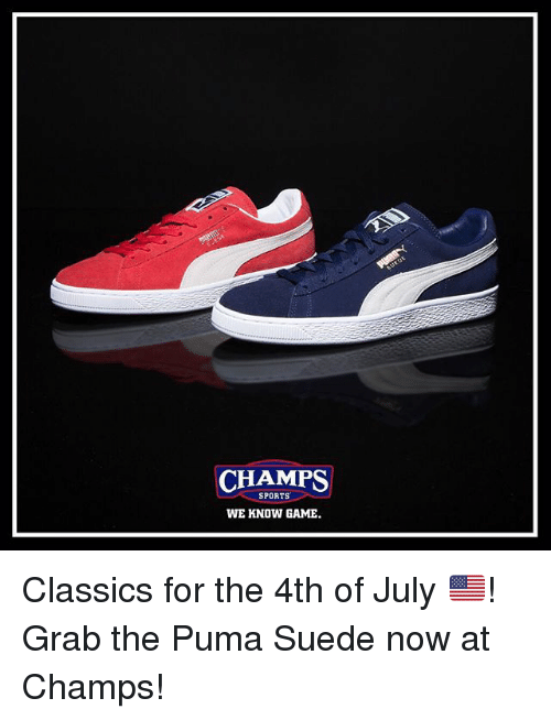 ec65d66bd653e CHAMPS SPORTS WE KNOW GAME Classics for the 4th of July 🇺🇸! Grab ...