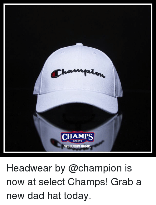 CHAMPS SPORTS WE KNOW GAME Headwear by Is Now at Select