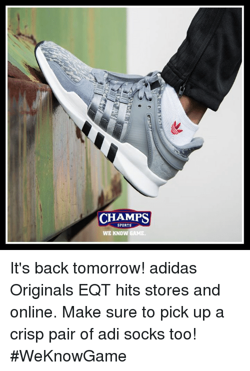 brand new 0e23a 790e5 Adidas, Memes, and 🤖  CHAMPS SPORTS WE KNOW GAME It s back tomorrow!