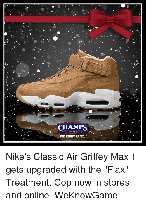 f73a75179e7f3 CHAMPS SPORTS WE KNOW GAME Nike s Classic Air Griffey Max 1 Gets ...