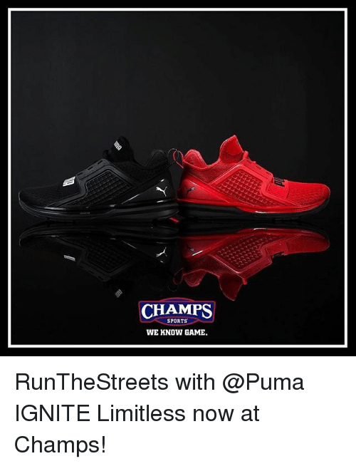 cheaper f8ee7 a1ace CHAMPS SPORTS WE KNOW GAME RunTheStreets With IGNITE ...