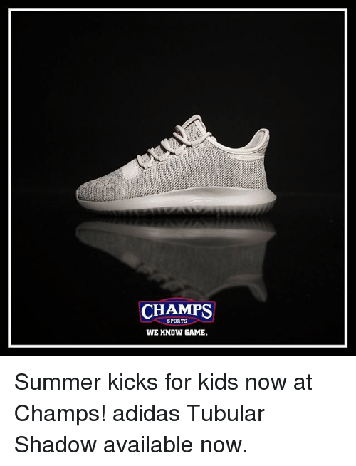 CHAMPS SPORTS WE KNOW GAME Summer Kicks for Kids Now at Champs ... 2a28cf20c3fb