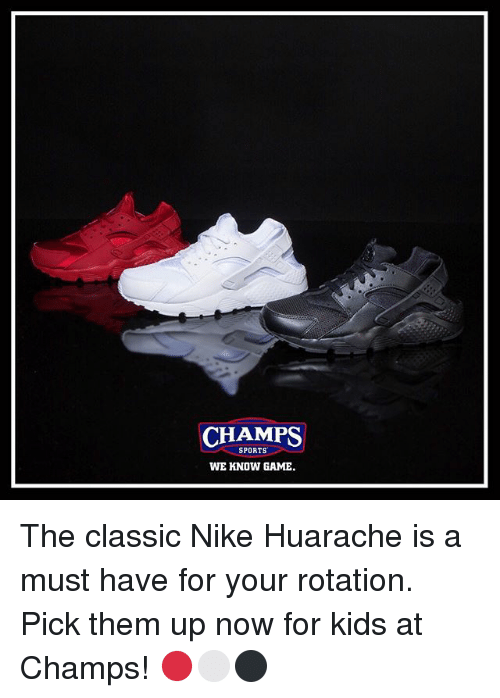 abefa8f5ba03 ... low price memes nike and sports champs sports we know game the classic nike  huarache a4ed9